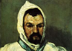 法国塞尚《僧侣肖像》绘画作品