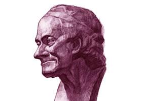 伏尔泰像明暗素描画法