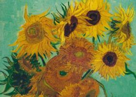 梵高《十二朵向日葵》油画作品