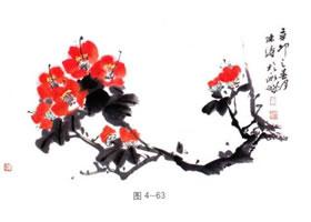 国画山茶的画法