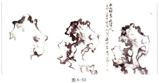 写意画太湖石作画步骤