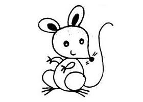 老鼠简笔画作品