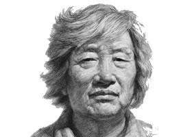 女性老年人头像素描画法
