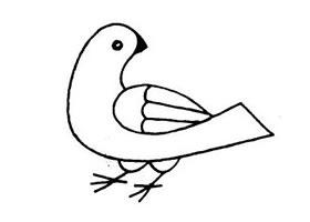 鸽子简笔画作品