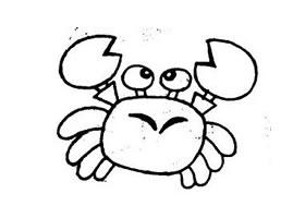 螃蟹简笔画作品