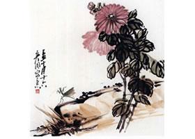 国画菊花的范画练习步骤五