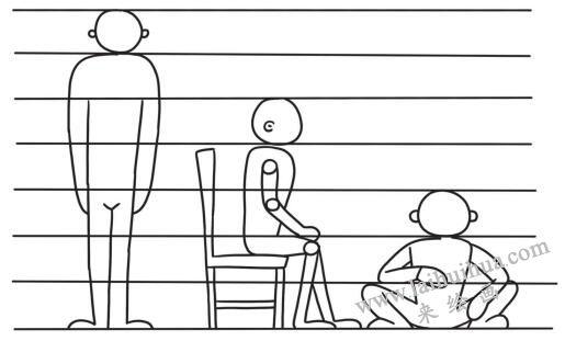 成年人的身材比例,简笔画
