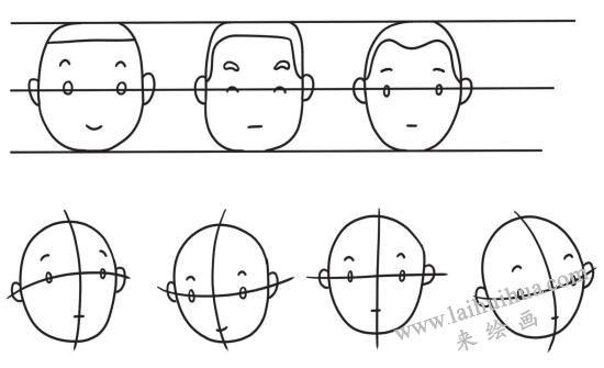 成年人的五官比例,简笔画