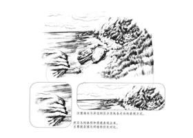 海边景色素描画法