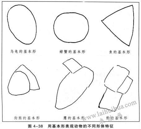 用基本形表现动物的不同形体特征