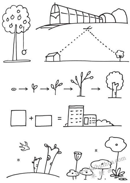 风景简笔画在教学中的运用03