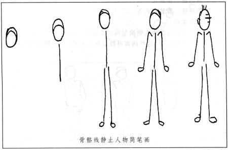 骨骼线人物简笔画