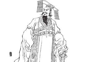 汉武帝白描图