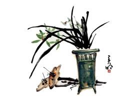 兰花的画法范画画法步骤(三)