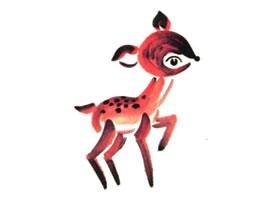 梅花鹿儿童水墨画画法