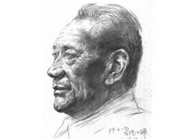津门老人肖像素描画法