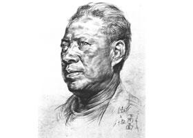 津门人肖像素描作品