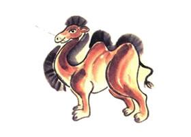 骆驼儿童国画画法
