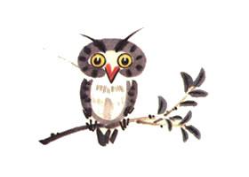 猫头鹰儿童水墨画画法