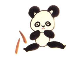 大熊猫儿童水墨画画法