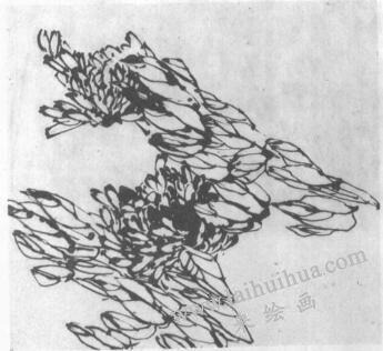 水墨画技法之冲线法(图例)01