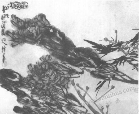 水墨画技法之冲线法(图例)03