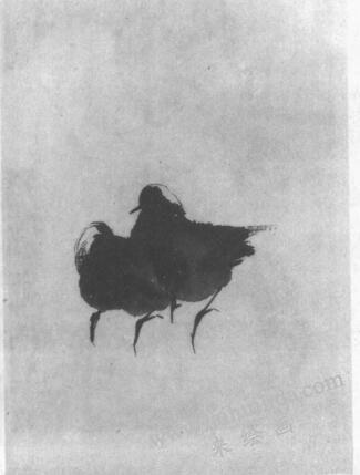 水墨画技法之冲墨法(《寒雀图》的绘制步骤)01