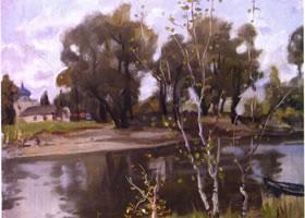 俄罗斯《古老的罗斯》风景油画