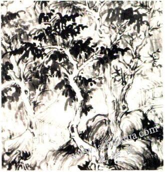 对传为巨然《万壑松风图》中的树木笔法的解读
