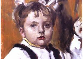 俄罗斯《小女孩》人物油画