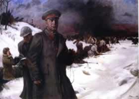 俄罗斯《朱可夫将军在1943年》人物油画