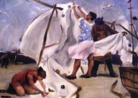 俄罗斯《渔夫的妻子》人物油画