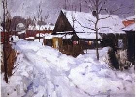 俄罗斯《老拉多加》风景油画