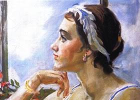 俄罗斯《安娜》人物油画