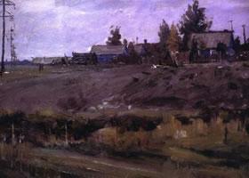 俄罗斯《乡村》风景油画