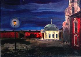 俄罗斯《彼得罗巴弗洛夫斯克的风景》风景油画