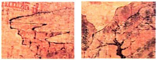 展子虔山水画中的山石法画法特征