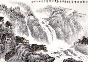 水墨山水画流泉、瀑布的画法
