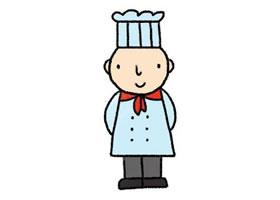 厨师的简笔画画法步骤