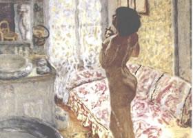 世界名画:《室内》布面油画
