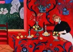 世界名画:《红色的和谐》画布油画