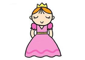 公主简笔画画法步骤