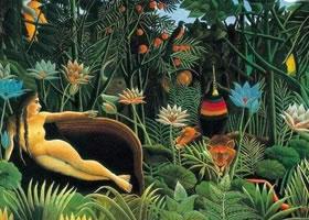 世界名画:《梦》亨利•卢梭布面油画