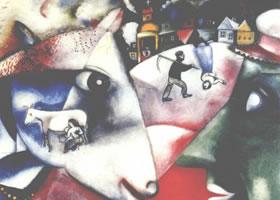 世界名画:《我和我的村庄》布面油画