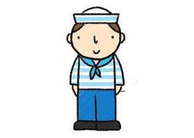 水手简笔画画法步骤