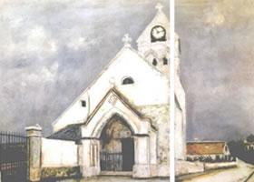 世界名画:《德伊教堂》布面油画