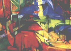 世界名画:《林中之鹿II》画布油彩