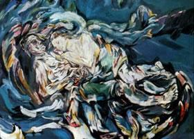 世界名画:《风中新娘》卡布面油