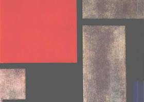 世界名画:《红黄蓝的构图》布面油画