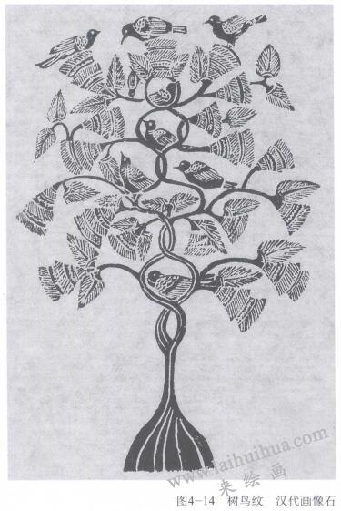 书鸟纹,素描
